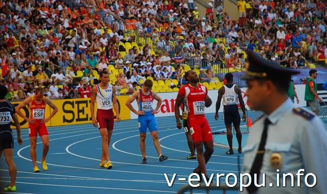 Эстафета на ЧМ по легкой атлетике 2013 в мск