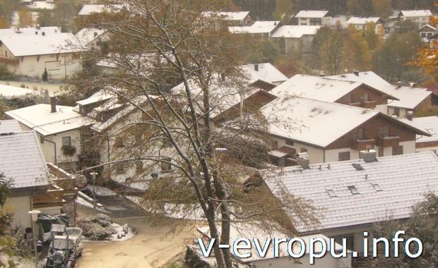 Первый снег в Боденмайсе - баварском горнолыжном курорте