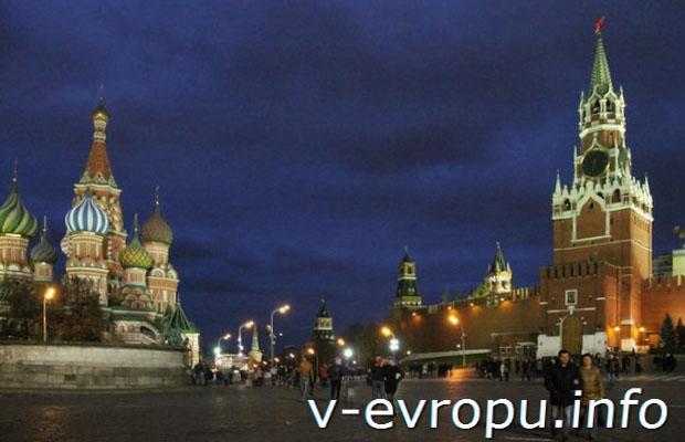 Красная площадь ночью