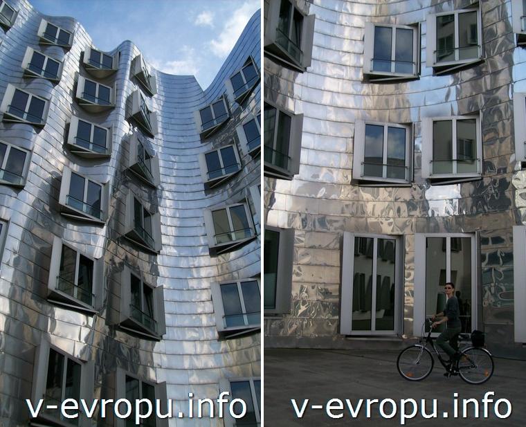 Авангардная архитектура в Старом речном порту Дюссельдорфа