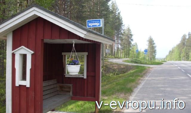Автобусная остановка в Финляндии