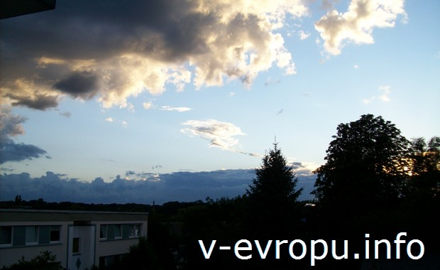 Закат в окрестностях Дюссельдорфа