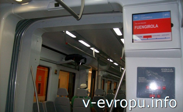 Вагон поезда  железных дорог Испании