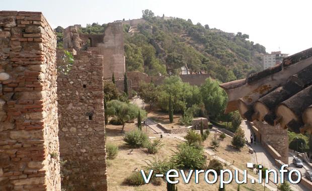 В замке Хибральфаро в Малаге