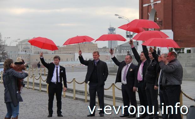 Флэш-моб на Красной площади в Москве