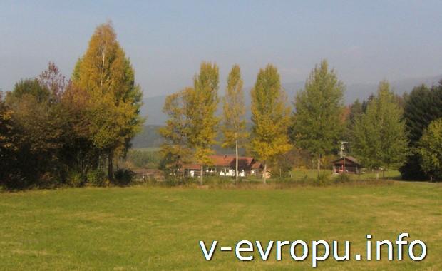 Осень в Баварии в районе Боденмайса
