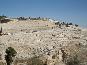 Вид на древнее еврейское кладбище на Масличной Горе