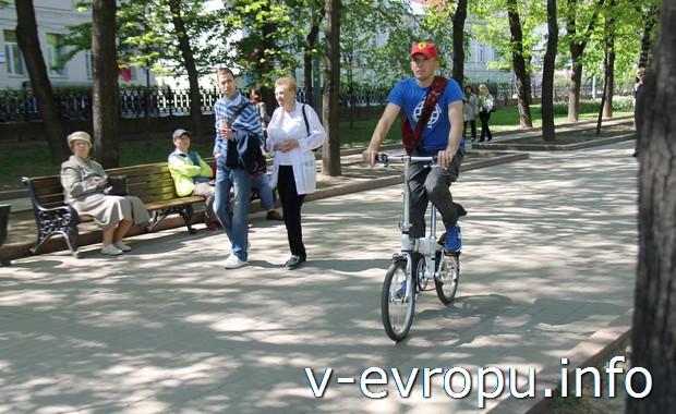 Велосипедист в Москве