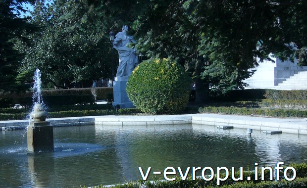 Городской парк Мадрида в январе