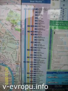 Так выглядит расписание экспресса по реке Чао Прайя в Бангкоке