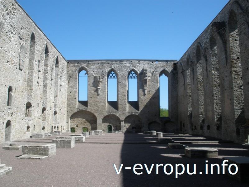 Величественные руины монастыря Св. Биргитты в Таллине