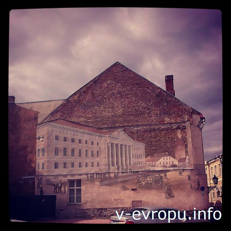 Граффити на стенах исторических зданий как зеркало былого из жизни города