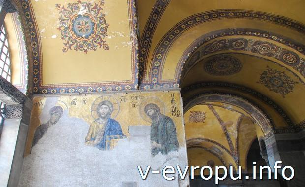 Мозаика в Соборе Святой Софии (Стамбул, Турция)