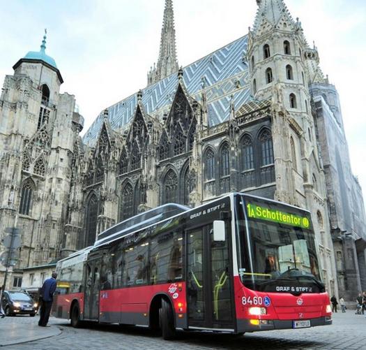 Городской автобус в Вене