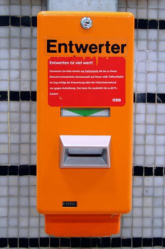 компостер для билетов в Вене