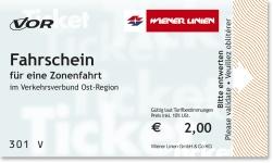 Проездной билет на 1 поездку в Вене
