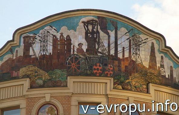"Мозаика фасада гостиницы ""Националь"". Москва"
