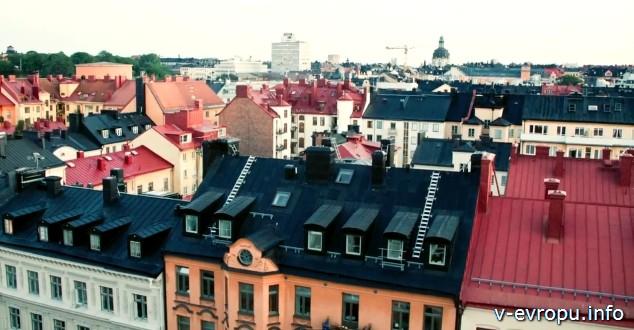 Стокгольм. Крыши домов