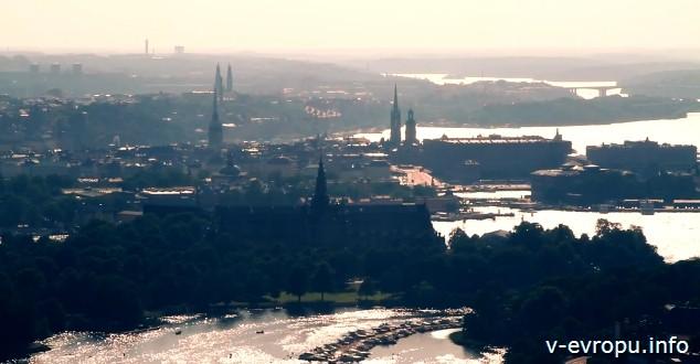 Стокгольм. Панорамный вид на город