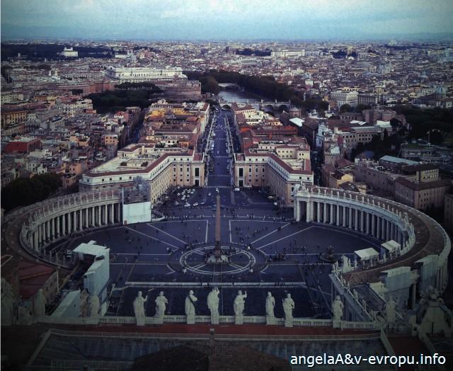 Ватикан. Вид с купола Собора Св Петра