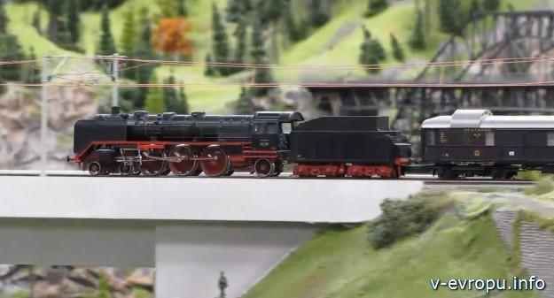 Музеи Гамбурга: Миниатюрная железная дорога