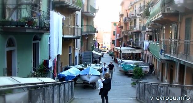 Городок на итальянской ривьере