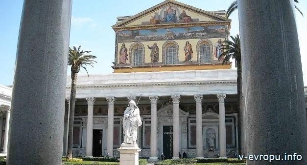 Рим. Церковь Сан Паоло Фуори ле Мура