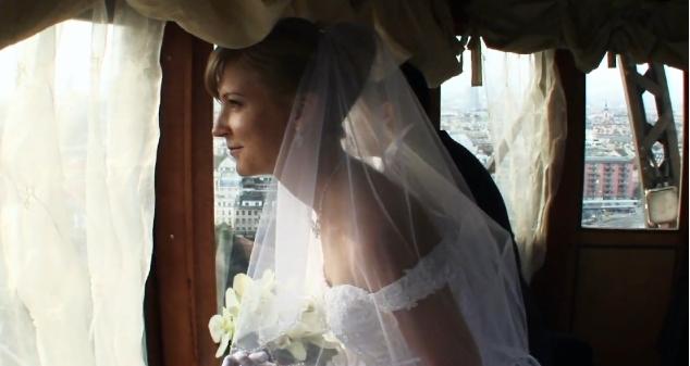 Свадьба на колесе обозрения в Вене