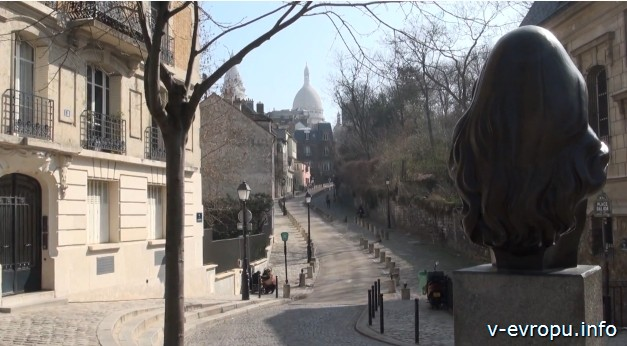 Париж Вид от памятника Далиды