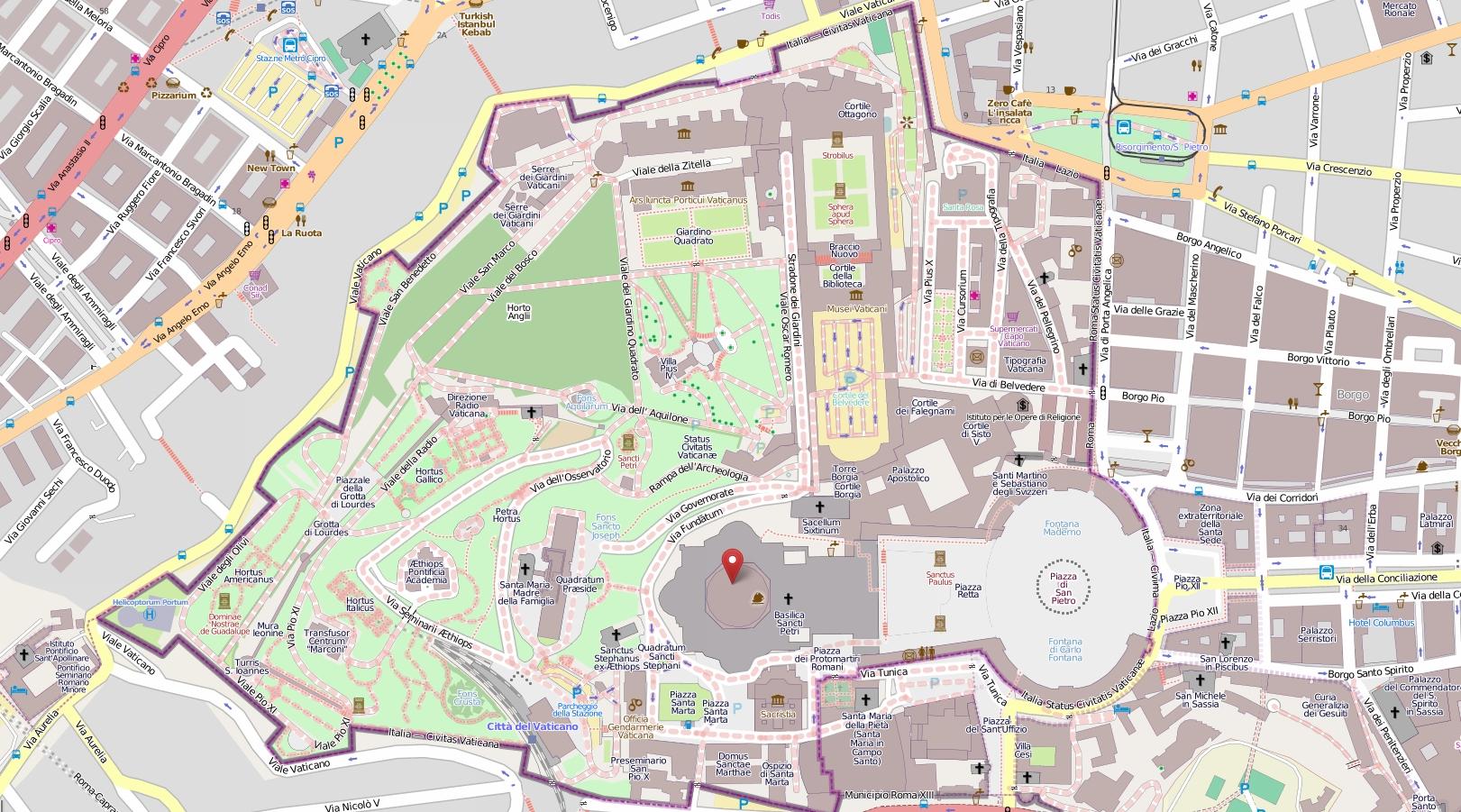 Подготовка к путешествию: Карта Ватикана