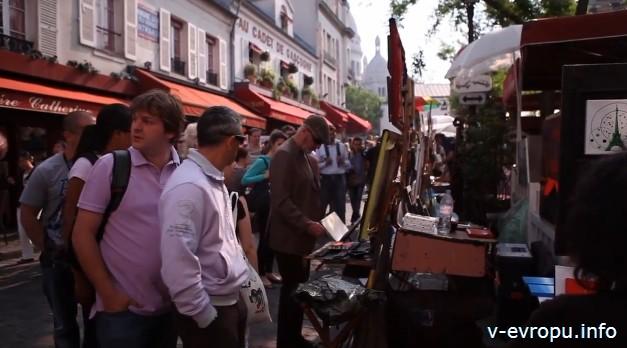 Париж: рынок Монмартра