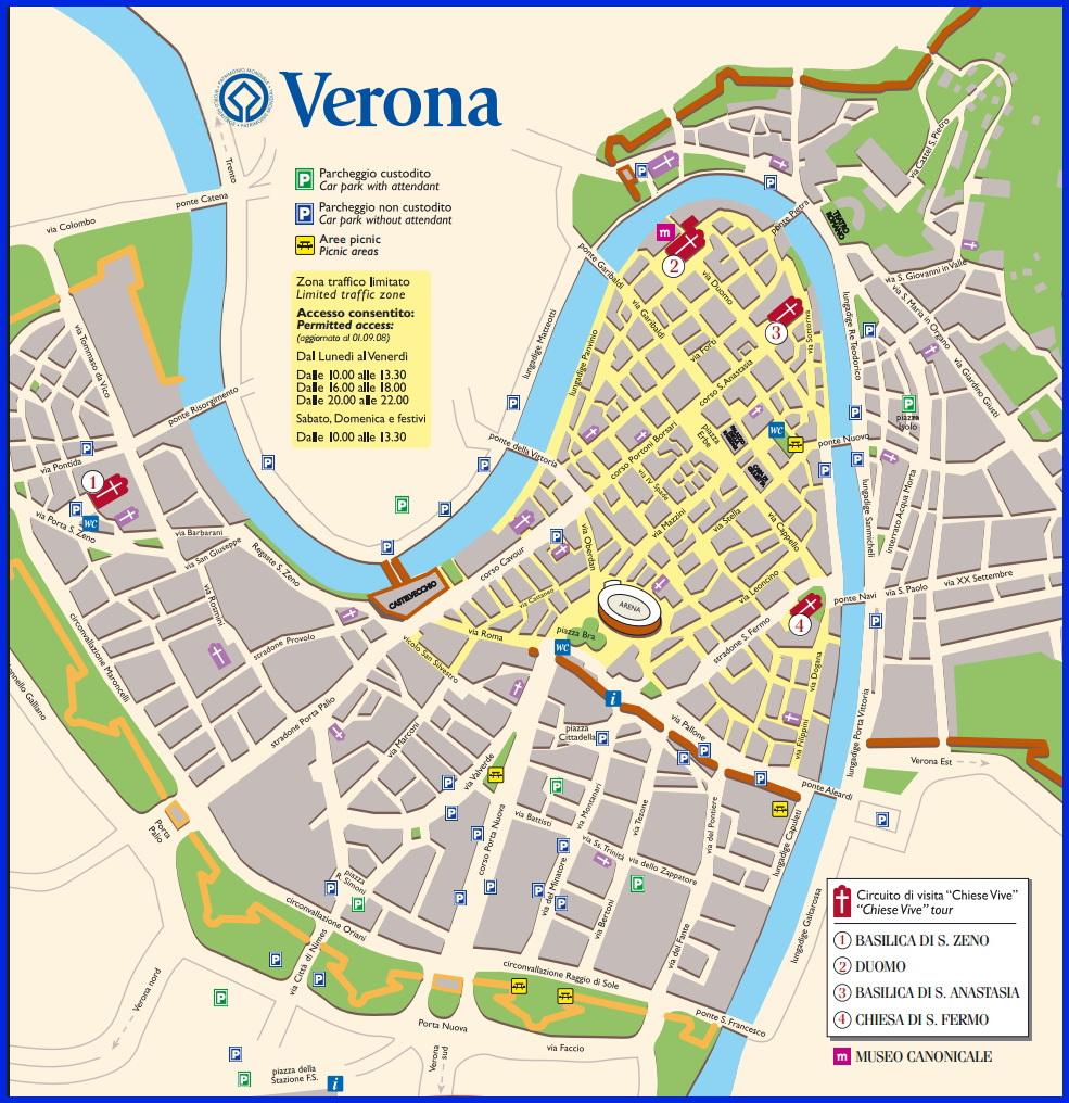 Верона самые интересные церкви на карте