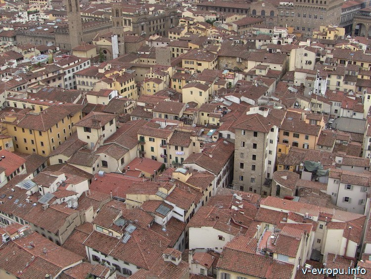 Фото Флоренции с панорамной площадке на Кампаниле Джотто