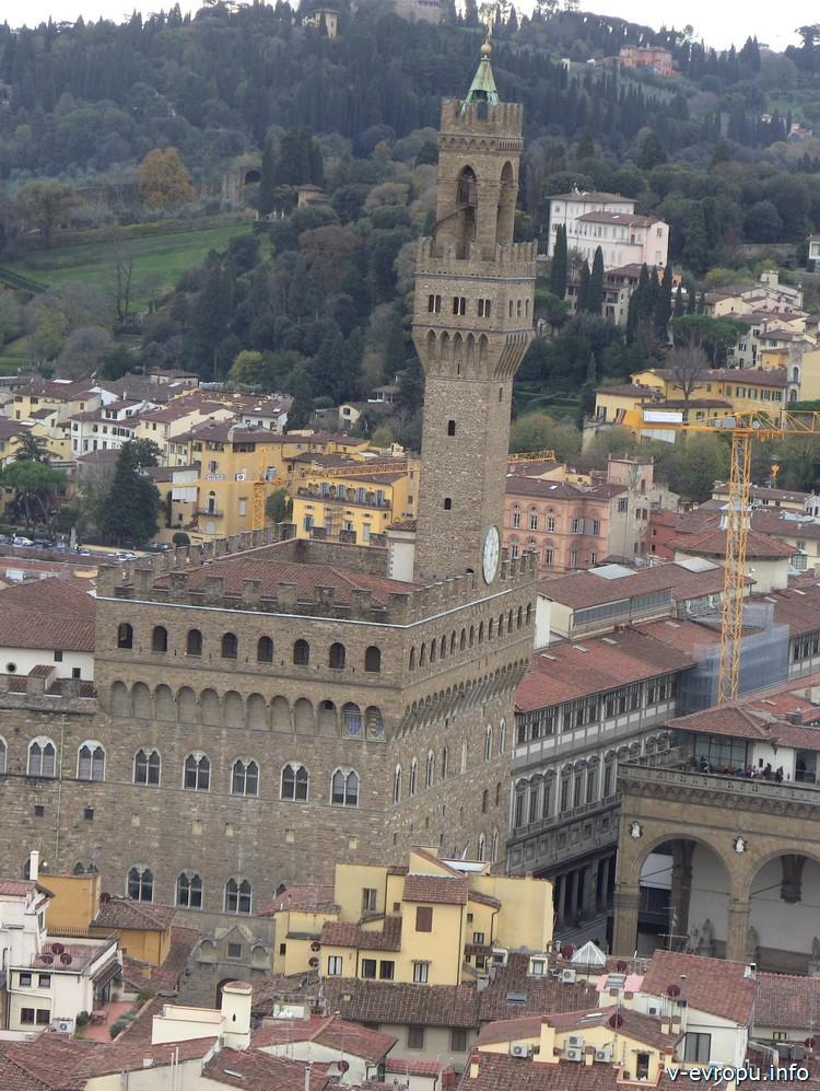 Палаццо Веккьо. Флоренция. Вид с башни у Дуомо Ферензе