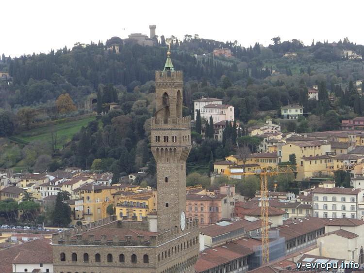 Башня палаццо Веккьо. Флоренция.