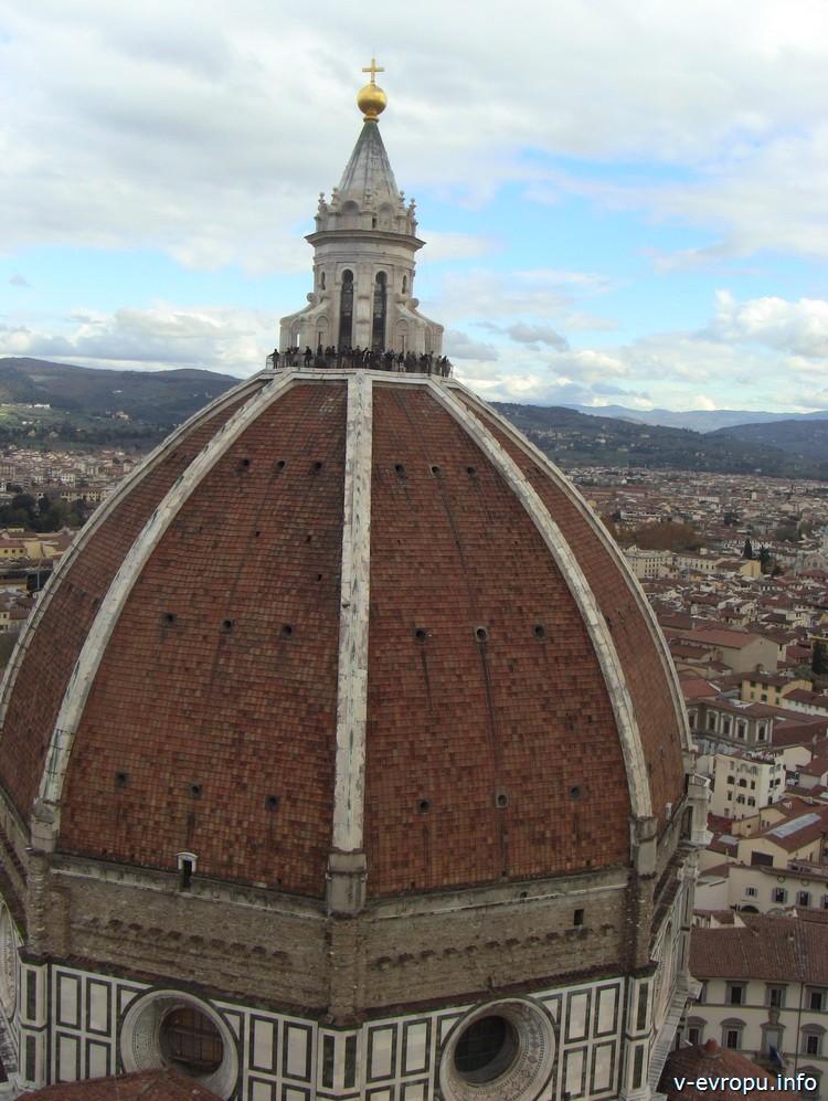 Флоренция. Собор Санта дель Фиори. Фонарь, купол, барабан купола базилики