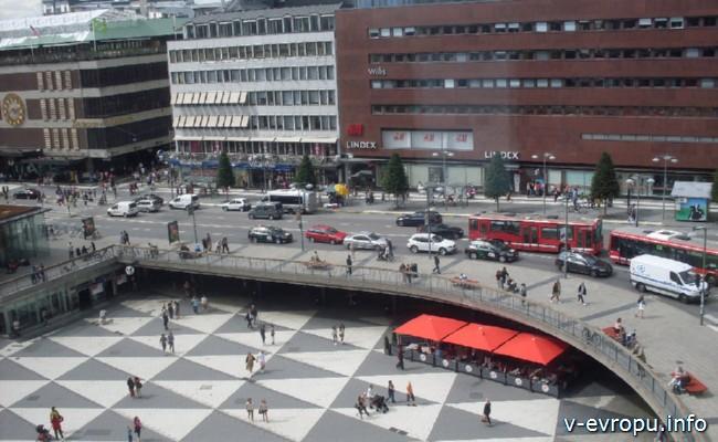 На велосипеде по Европе_Стокгольм. Центр города