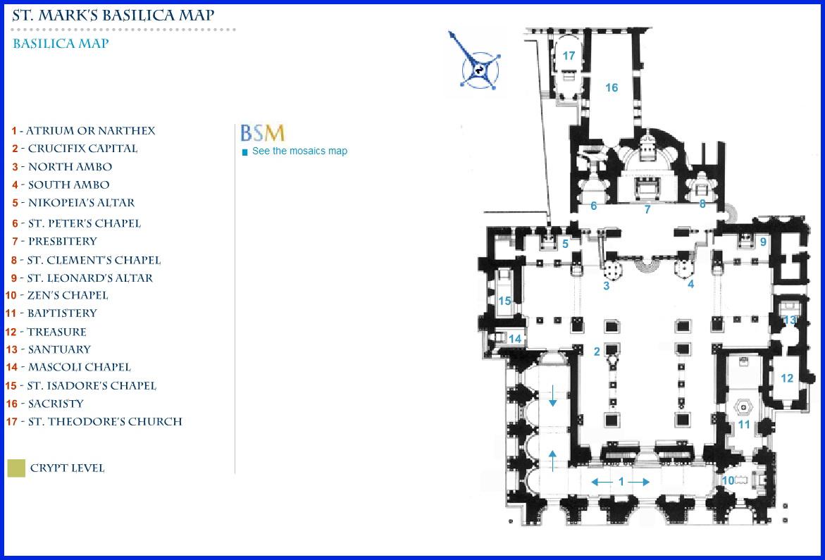 Схема Собора Сан Марко в Венеции