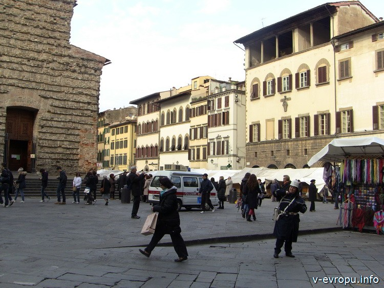 Флоренция. Площадь Сан Лоренцо