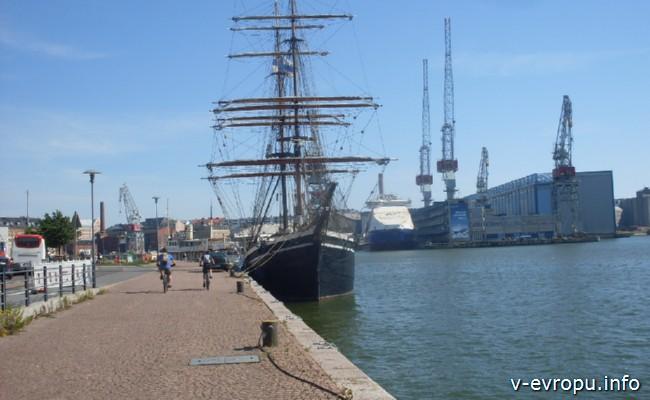 По Европе на велосипеде_ Порт Хельсинки