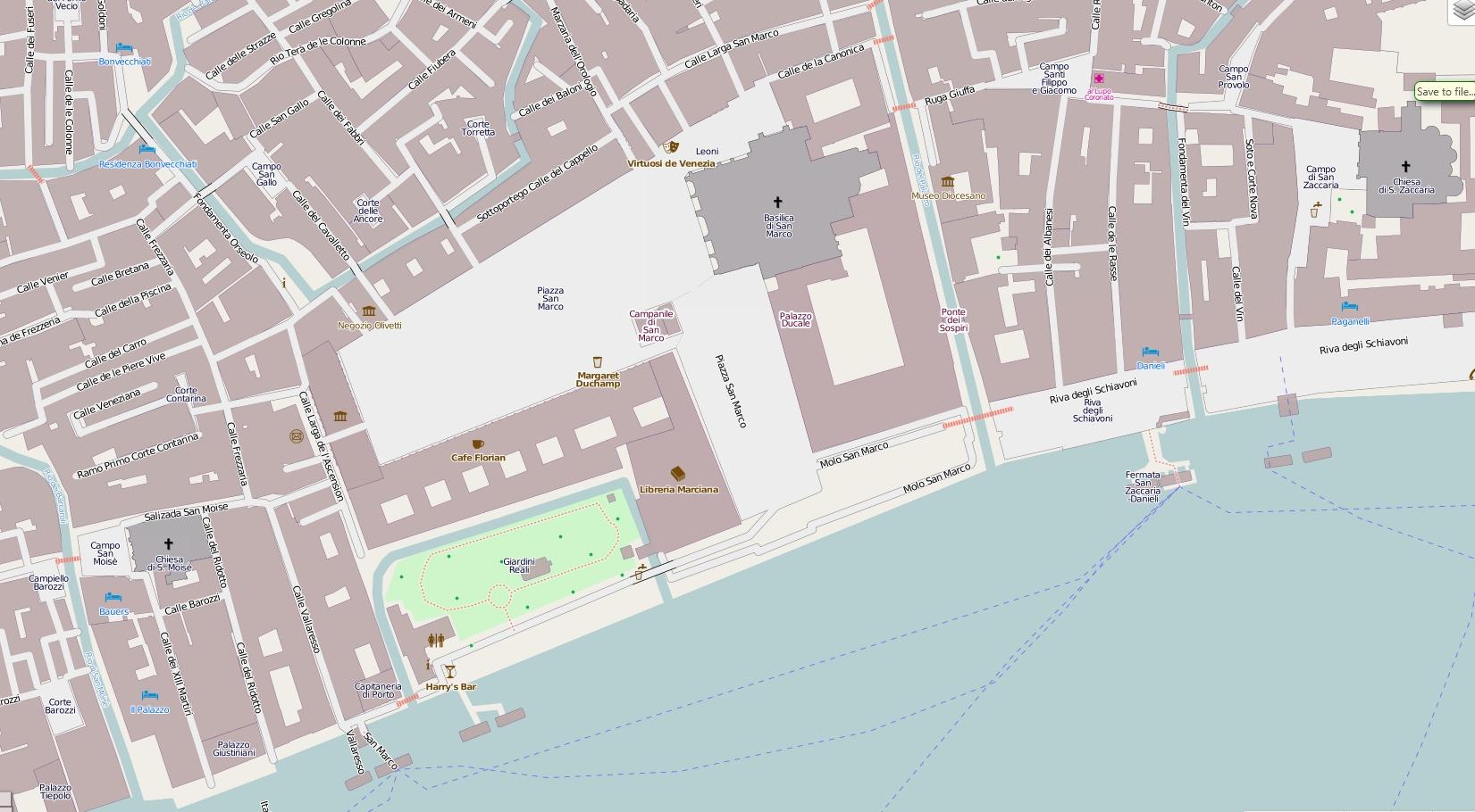 Венеция _Площадь Сан Марко на карте