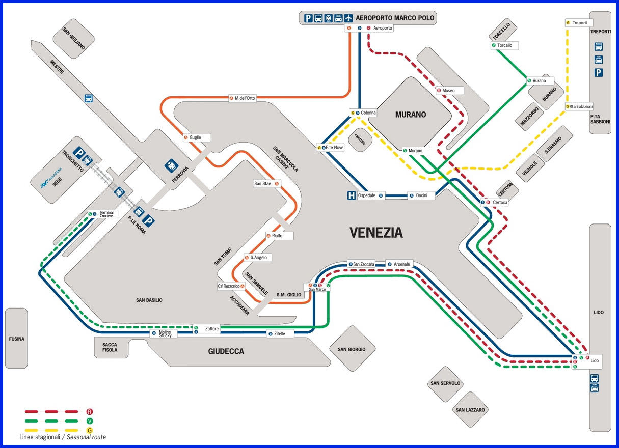 От аэропорта Марко Поло до Венеции на вапоретто Алилагуна