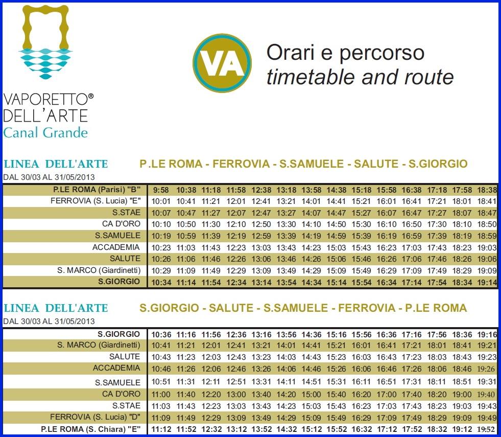 Венеция_маршрут экскурсии на вапоретто дель Арте
