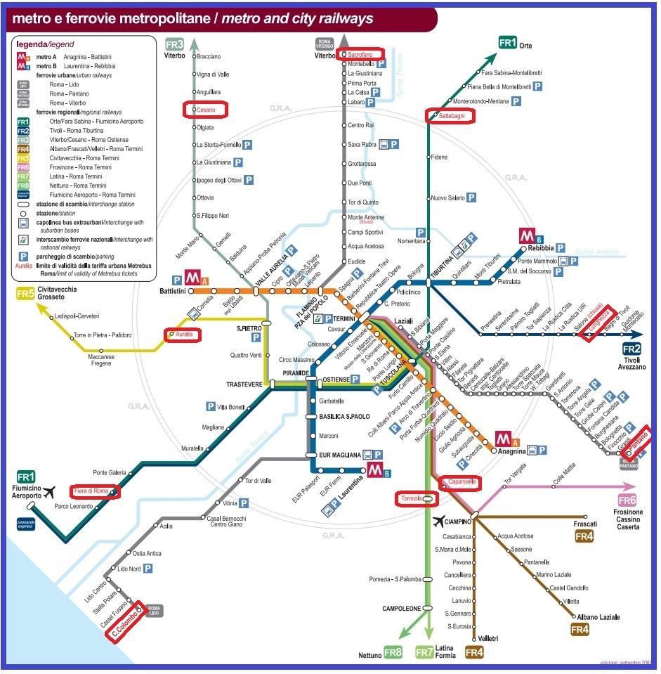 Рим_схема метро и электричек