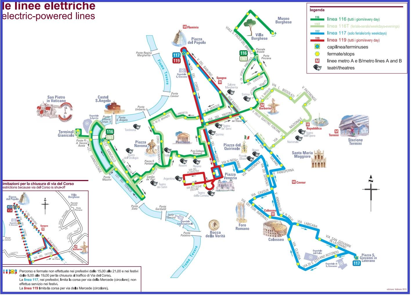 Схема троллейбусов Рима