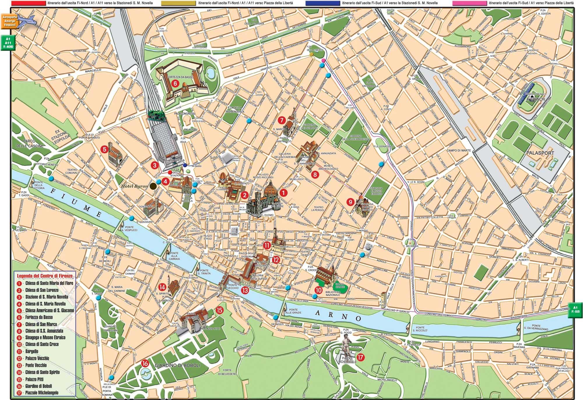 Флоренция_карта с достопримечательностями