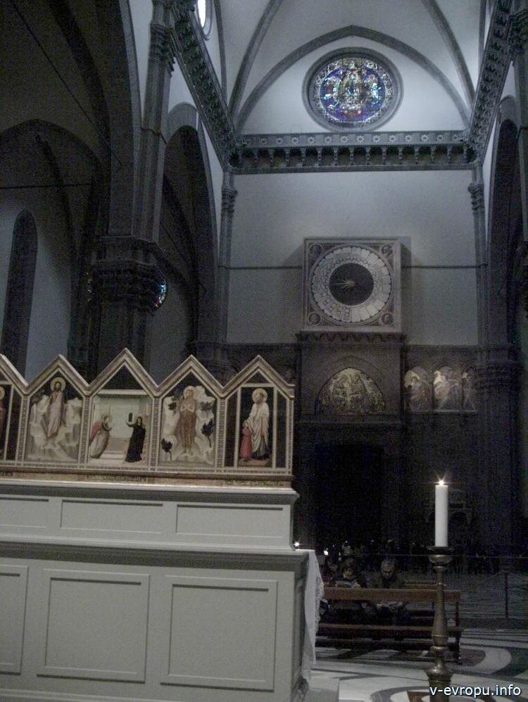 Флоренция. Внутри собора Santa Maria del Fiore