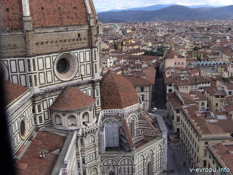 Вид на Санта Мария дель Фиоре с кампанилы Джотто