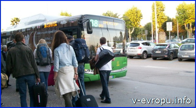 Аэропорт Пескары Абруццо - автобус №38 до центра города