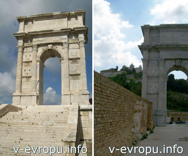 Достопримечательности Анконы: Триумфальная Арка Траяна